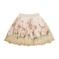 Monnalisa Antique Rose Skirt