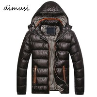 DIMUSI New Men Winter Jacket Fashion Hooded Thermal Down Cotton Parkas Male Casual Hoodies Brand Clothing Warm Coat 4XL,PA064