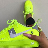 Nike Air Force One Fashion Men's and Women's Sports Casual Shoes Low-Top Breathable Shoes