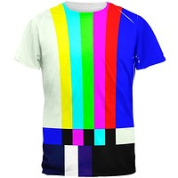 Halloween SMPTE Color Bars Late Night TV Costume All Over Mens T Shirt