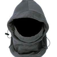 Smile YKK Fleece Balaclava Hood Winter Face Mask Hat Neck Warmer Gaiter Gray