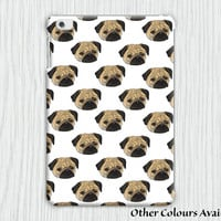 Retro Pug in Lilac and White iPad Mini 1 / iPad Air 1 Tablet Clip on Case Cover