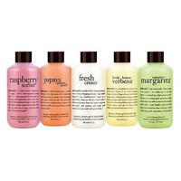 philosophy 3-in-1 shower gels 5 pc. discovery set 6oz sizes - QVC.com