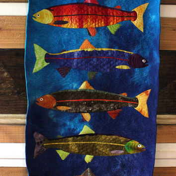 Art Quilt - Roly Poly Fish Eyes
