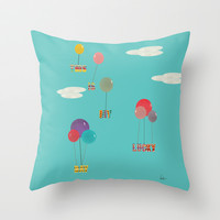my lucky day Throw Pillow by bri.buckley
