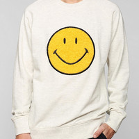 Smiley Face Patch Pullover Sweatshirt - Urban Outfitters