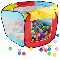 Ball Pit Tent with 100 Ball Pit Balls and Carrying Case by Imagination Generation