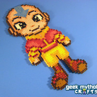 Aang from Avatar the Last Airbender Perler by GeekMythologyCrafts