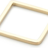 "by boe ""Square Band Ring"" 14k Gold-Plated sterling Silver, Size 7"