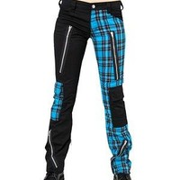 Black Pistol - Freak Pants - Blue Tartan | Black Pistol | Black Pistol | CLOTHING BRANDS | £39.99 | New Rock Gothic Clothing - Rocky Horrors