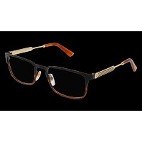 Gucci - GG0135O-004 Black Gold Eyeglasses / Demo Lenses