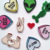 Alien Iron On Patches