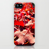 Autumn leaves iPhone & iPod Case by Vorona Photography