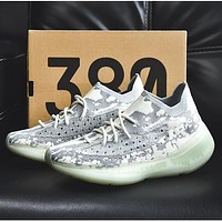 "Adidas Yeezy Boost 380 V3 ""Alien"" FV3260 Stone texture Joint Limited Coconut  Shoes"
