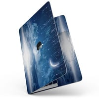 "Vivid Blue Falling Stars in the Night Sky - 13"" MacBook Pro without Touch Bar Skin Kit"