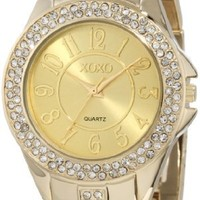 XOXO Women's XO5465 Rhinestone-Accented Gold-Tone Bracelet Watch