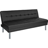 "Metro 67"" Leather Futon Bed and Couch"
