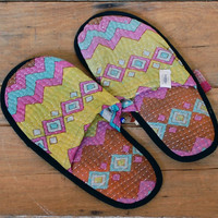 Small/Medium Kantha Slippers