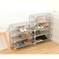 2016 New Non-woven Fabric Storage Shoe Rack Hallway Cabinet Organizer Holder 2/3/4/5/6 Layers Select Shelf DIY Home Furniture
