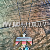 Serape Thunderbird Necklace