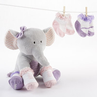 Plush Elephant with Socks for Baby