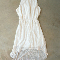Tucked Lace Dress in White [5782] - $28.80 : Vintage Inspired Clothing & Affordable Dresses, deloom | Modern. Vintage. Crafted.