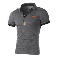 2018 new Mens casual short sleeve polo Shirts plus size solid Gray White Clothing Tops Tee camisa masculina
