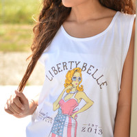 LAUREN JAMES LIBERTY BELLE TANK