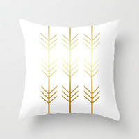 stay gold Throw Pillow by Stephy Says