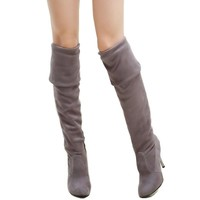 Big Size 34-43 Womens High Heel Boots Over the Knee High Boots for Sexy Lady Fashion Shoes Knight Boots
