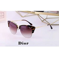Dior tide brand men and women models half frame driving polarized sunglasses #1