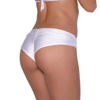White Scrunchie Booty Short