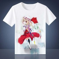 Touhou Project T-shirt Anime Cosplay T Shirt Fashion Tops Tees For Men Women Breathable Summer T Shirts