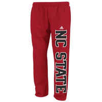 NC State Wolfpack adidas Campus Fleece Sweatpants – Red