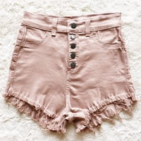A High Waisted Cutoff in Blush
