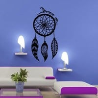 Wall Decal Art Decor Decals Sticker Dream on Catcher Dreamcatcher Feathers Bedroom Protection Symbol (M253)