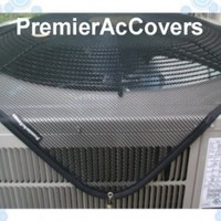Outdoor Air Conditioner/ Pool Pump Cover - PremierAcCovers Summer/Allseason Top Cover - 40x30 - Black