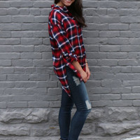 everyday plaid top