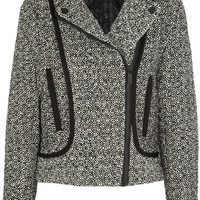 Karl Lagerfeld | Burel sateen-trimmed tweed jacket | NET-A-PORTER.COM