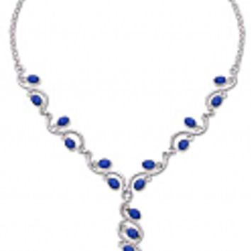 Sterling Silver and Lapis Lazuli Ivy Semi collar