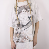 Vintage Wolf Family T Shirt