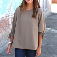 Fit to be Tied Shift Top {Olive}