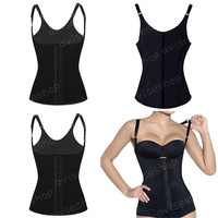 #1 Women Underbust Waist Cincher Vest Trainer Girdle Control Chaleco Body Shaper Shapewear Top