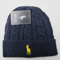 Polo Hiphop Women Men Beanies Winter Knit Hat Cap-3
