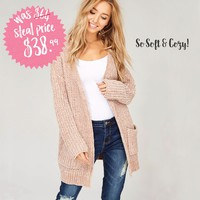 Softest Chenille Sweater in Taupe