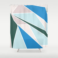 Ocean Colors Shower Curtain by Ashley Hillman