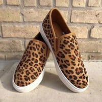 Jungle Leopard Slip on Sneaker By Corkys Footwear