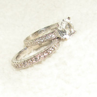 The Ashley Set Wedding Band and Engagement Rings by Candiesthings