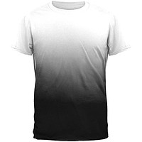 Fade to Black All Over Mens T-Shirt