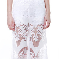 MDS. White Lace Culottes (6620803WHI)
